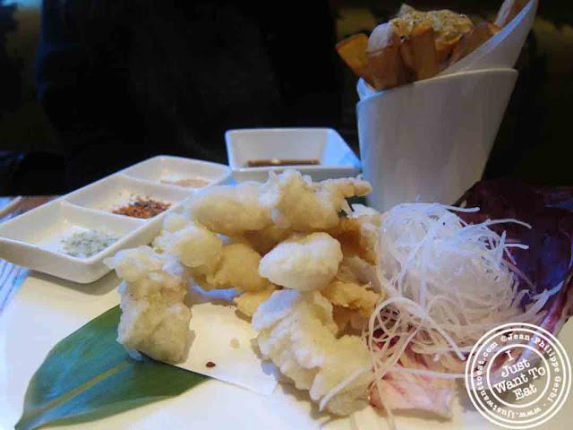 Image of Fish and Chips Nobu-style at Nobu in Tribeca NYC, New York
