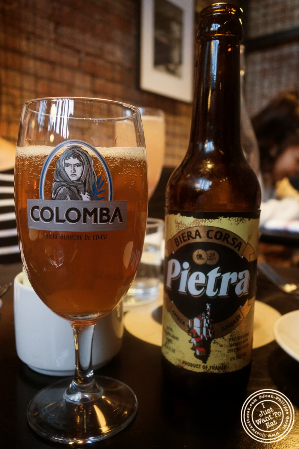 image of Pietra beer from Corsica at Tartinery in Nolita, NYC, New York