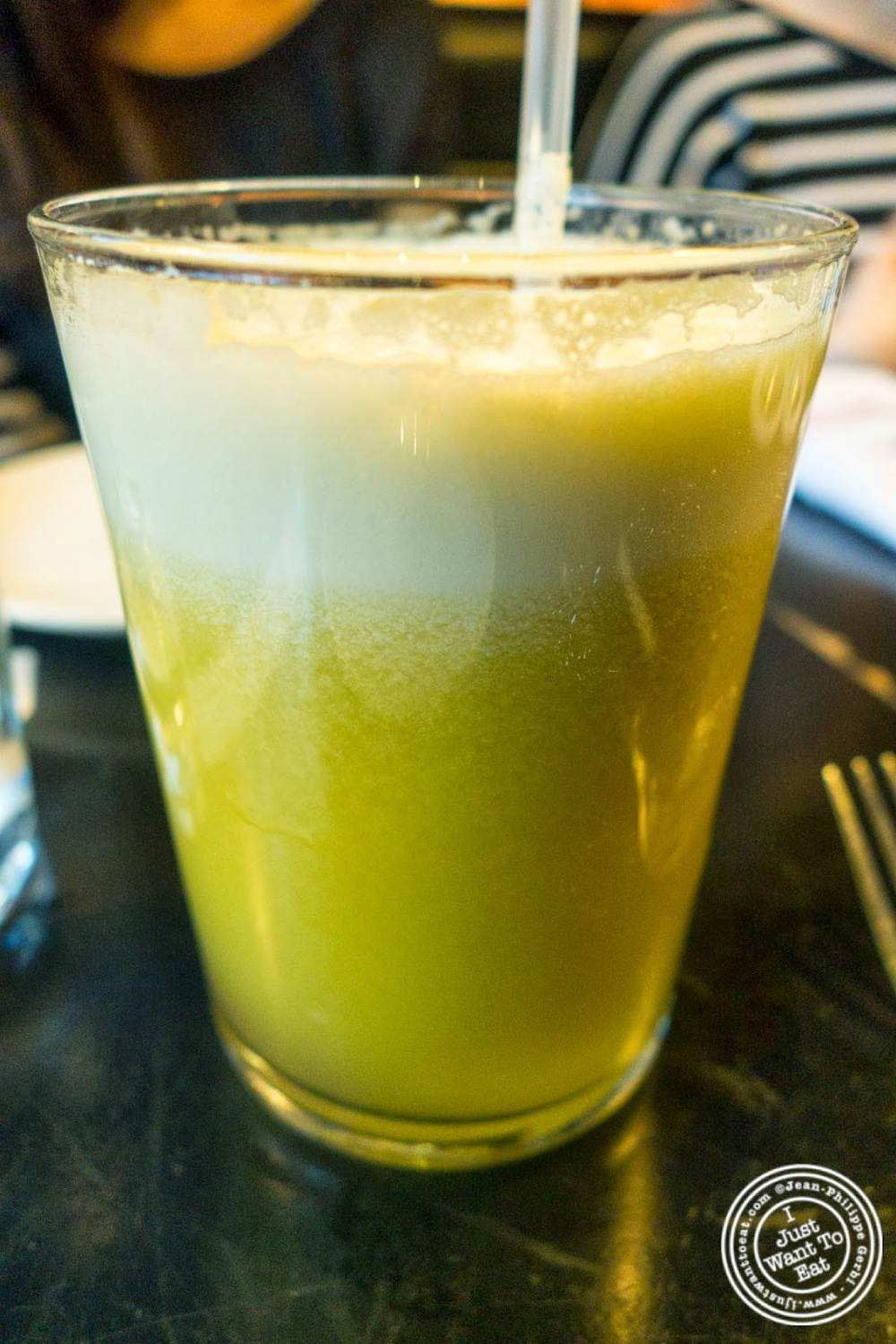 image of Delicious trio fresh squeeze juice at Tartinery in Nolita, NYC, New York
