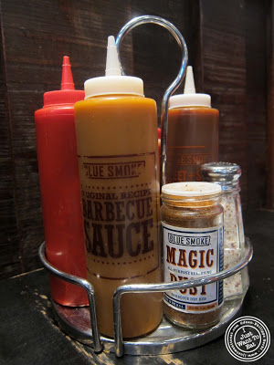 image of sauces at Blue Smoke in NYC, New York