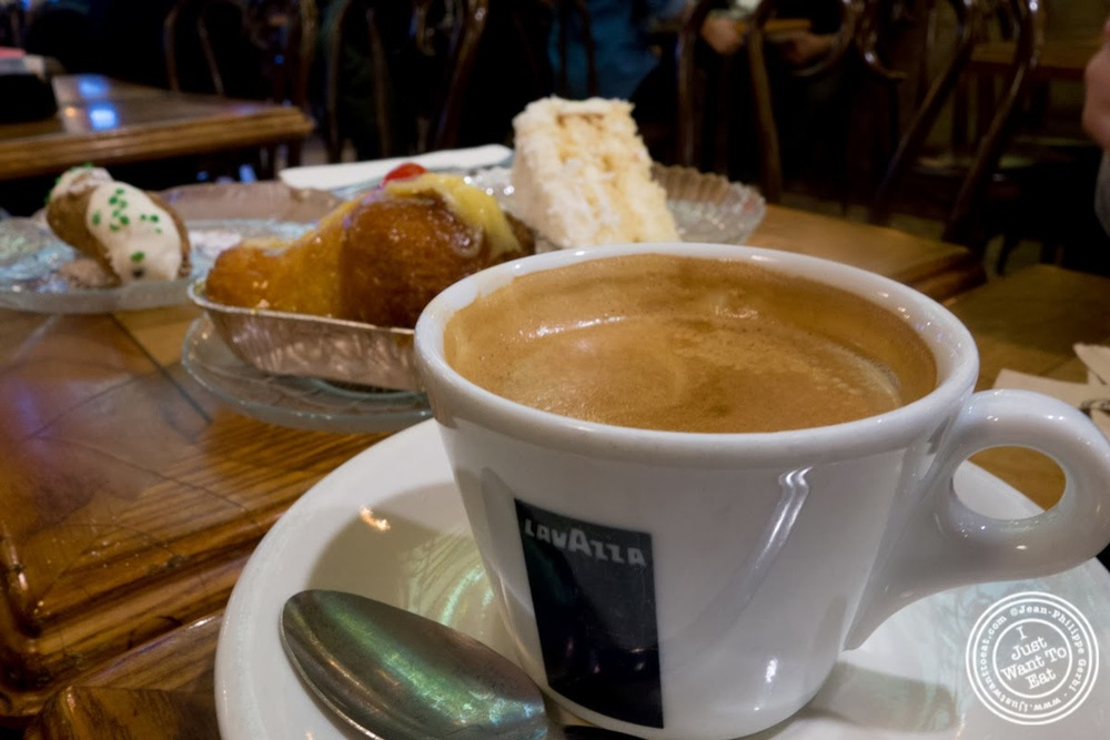 image of espresso at Veniero Pasticceria in the East Village, NYC, New York