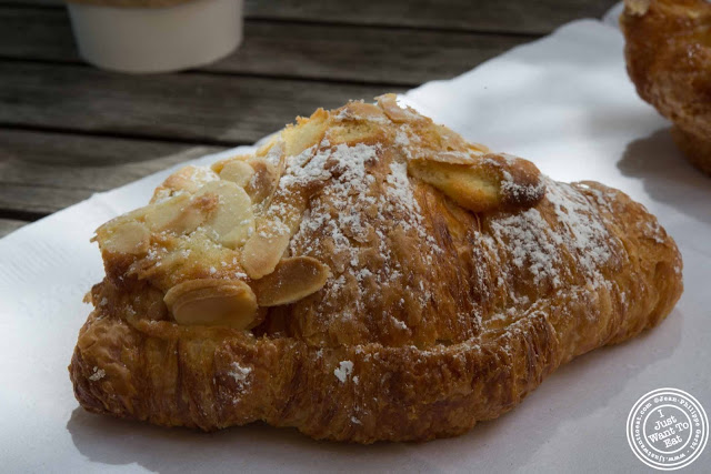 image of almond croissant at Dominique Ansel Bakery in NYC, New York