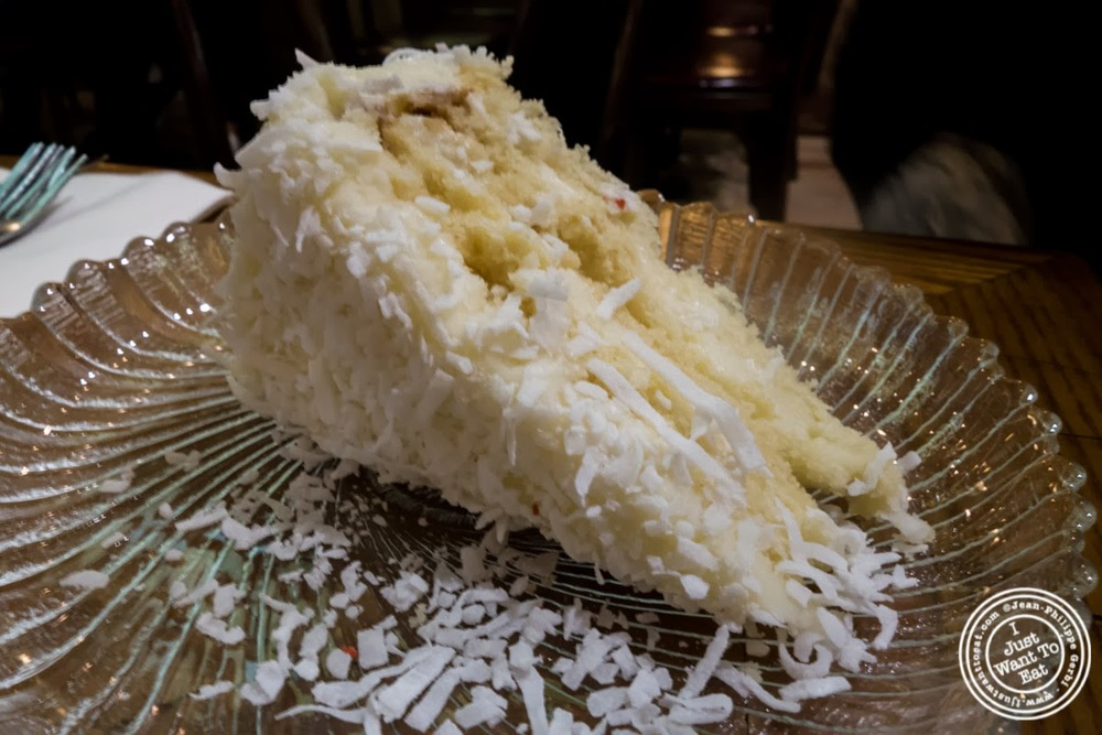 image of coconut cake at Veniero Pasticceria in the East Village, NYC, New York
