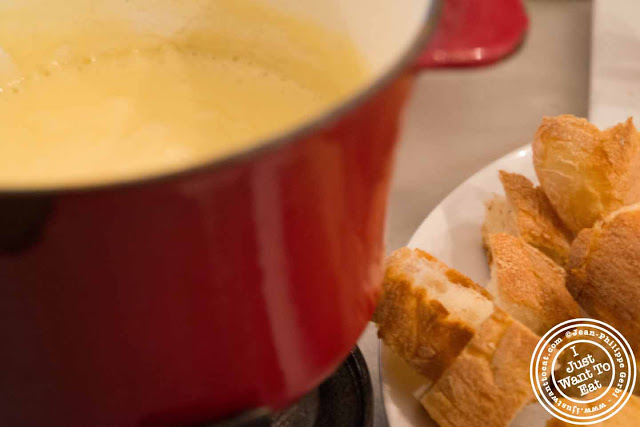 Image of Cheese fondue at the Vintner Wine Market in NYC, New York - Hell's Kitchen