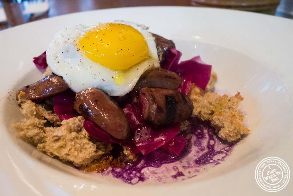 image of grilled duck hearts at Momofuku Ssam Bar in the East Village