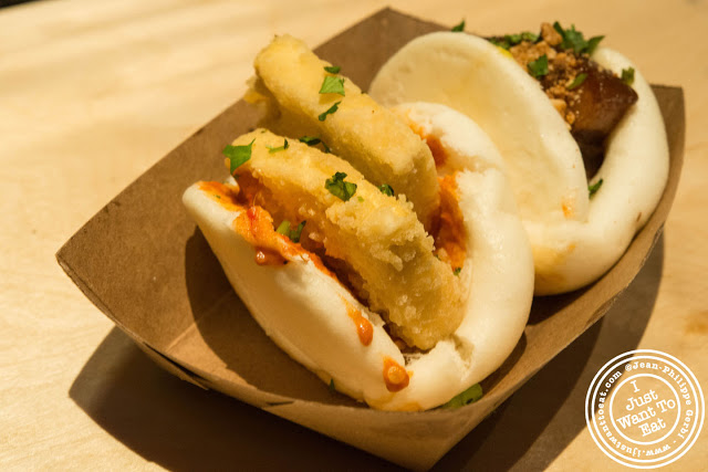 Image of Uncle Jesse and Broccolini bao at Baohaus in the East Village, NYC, New York