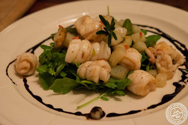 sauteed calamari at Abbottega, Italian Restaurant in NYC, New York