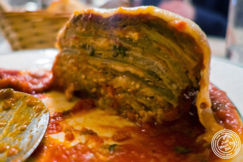 image of eggplant parmigiana at Carmine's in NYC, New York