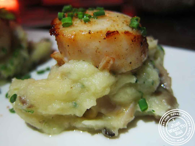 Image of Scallops at Courgette next to Dream Hotel Midtown in NYC, New York