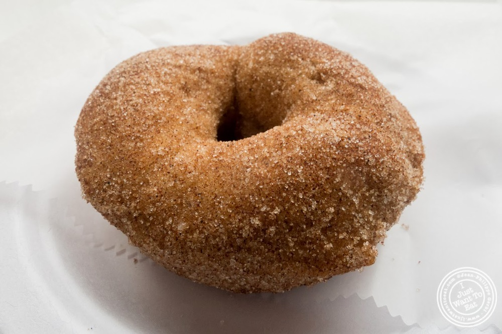 image of cinnamon sugar donut at Tu-Lu's gluten free bakery in the East Village - NYC, New York