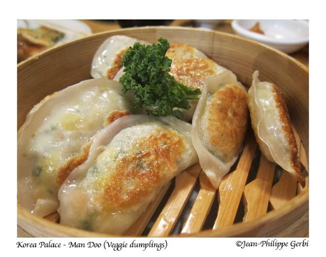 Image of Veggie dumplings at Korea Palace restaurant Midtown East NYC, New York