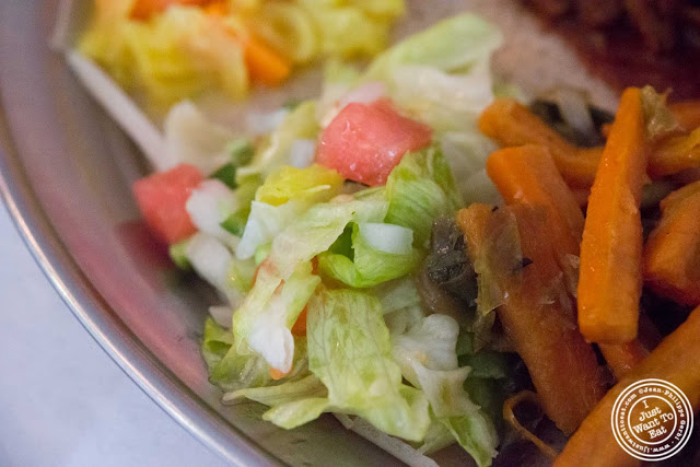image of salad at Awash Ethiopian restaurant in Brooklyn, New York