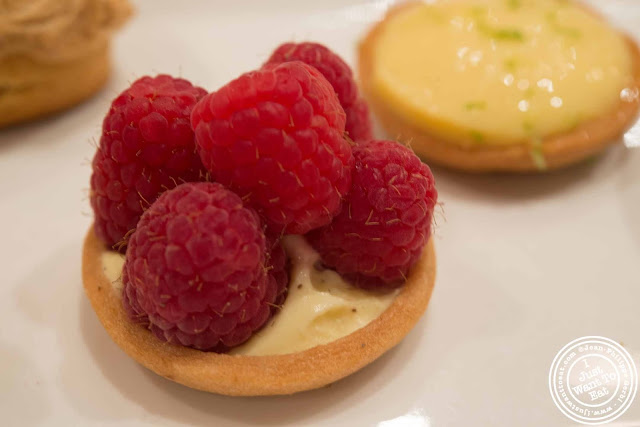 image of raspberry tart at Maison Kayser in NYC, New York