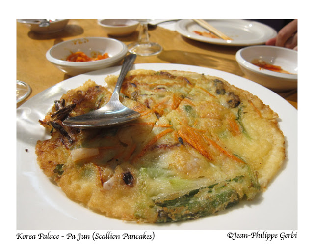 Image of Scallion pancakes at Korea Palace restaurant Midtown East NYC, New York