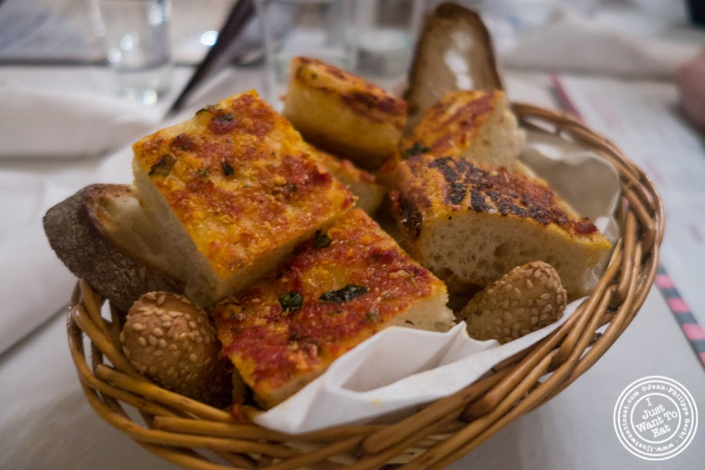 image of bread basket at Carmine's in NYC, New York