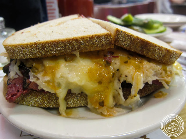 image of pastrami reuben at Katz's Deli in NYC, New York
