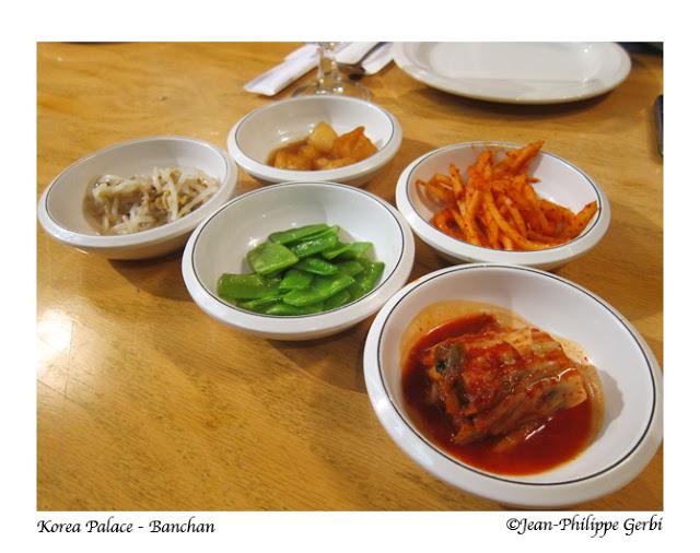 Image of Banchan at Korea Palace restaurant Midtown East NYC, New York