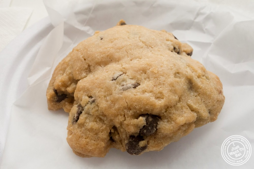 image of vegan chocolate chip cookie at Tu-Lu's gluten free bakery in the East Village - NYC, New York