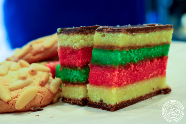 image of pignoli and rainbow cookies at Villabate-Alba in Bensonhurst, Brooklyn, New York