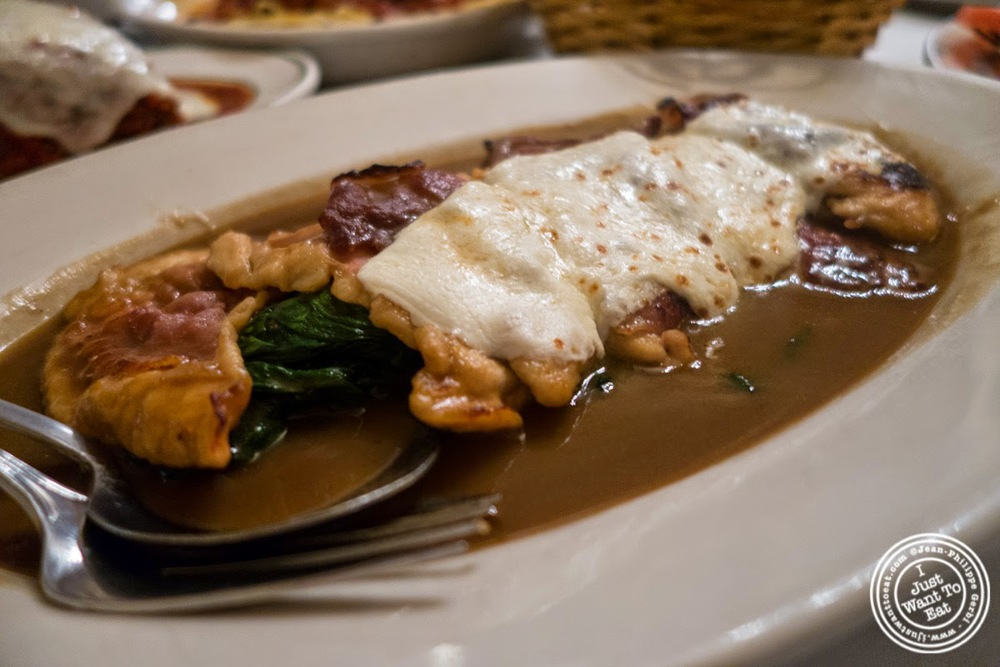 image of chicken saltimbocca at Carmine's in NYC, New York