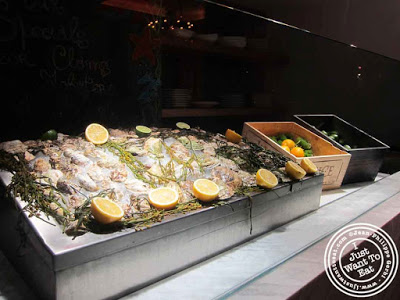 Image of Fish display at Courgette next to Dream Hotel Midtown in NYC, New York