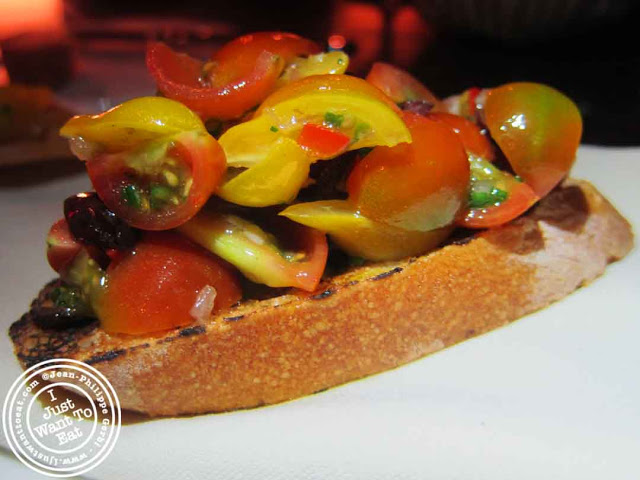 Image of Bruschetta at Courgette next to Dream Hotel Midtown in NYC, New York