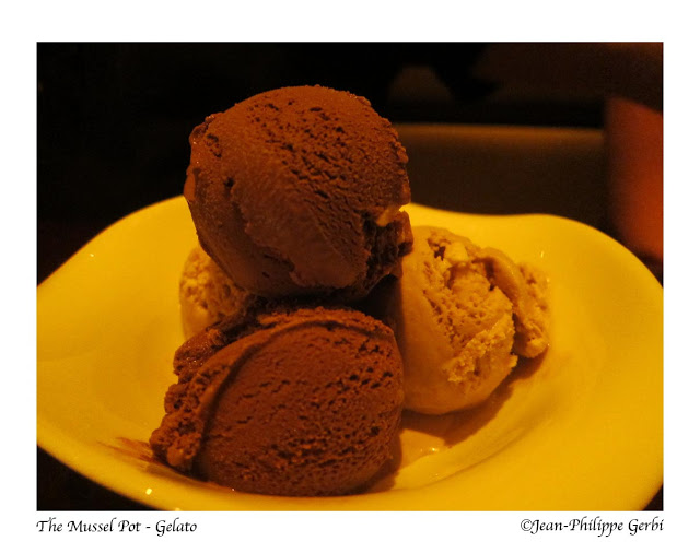Image of Gelato at The Mussel Pot in Greenwich Village NYC, New York