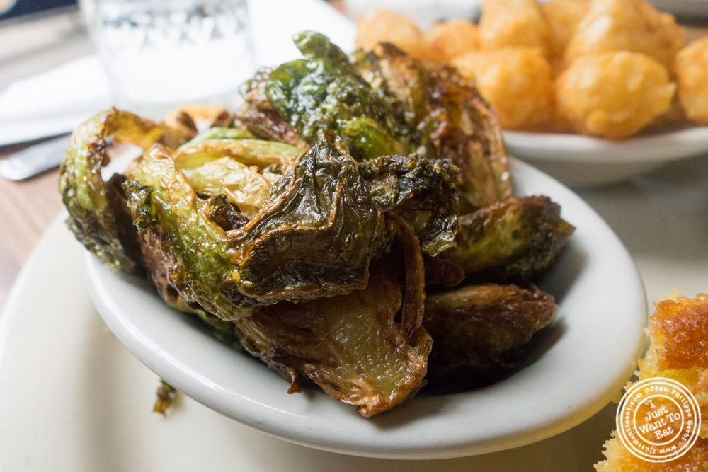 image of Brussels sprouts at Brother Jimmy's BBQ, nyc, ny