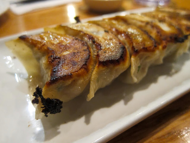 image of pork gyoza at Kambi Ramen House in the East Village, NYC, New York