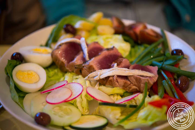 Image of Nicoise salad at Nice Matin on the Upper West Side in NYC, New York