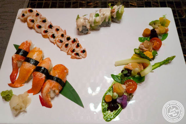 image of Four senses of lobster at Fushimi in Bay Ridge, Brooklyn, New York
