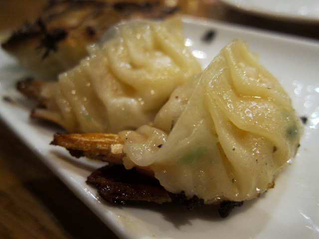 image of shrimp gyoza at Kambi Ramen House in the East Village, NYC, New York