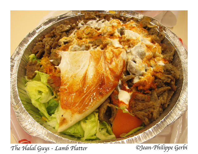 Image of Lamb rice plate at The Halal Guys Food cart in NYC, New York