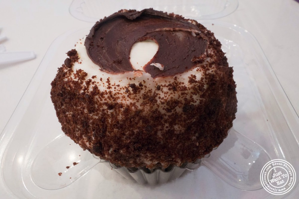 image of Milkshake cupcake at Crumbs Gluten Free in Greenwich Village, NYC, New York