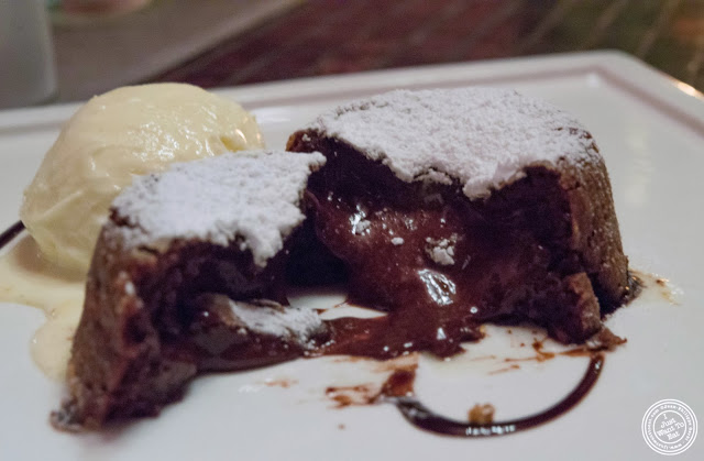 image of warm chocolate cake at Fushimi in Bay Ridge, Brooklyn, New York