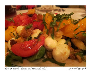 Image of Tomato and mozzarella salad at Tony Di Napoli in Times Square NYC, New York
