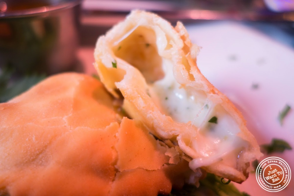 cheese empanadas at Sounds Of Brazil SOB's in NY, New York