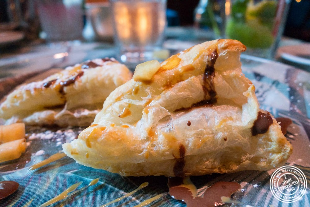 banana and chocolate empanadas at Sounds Of Brazil SOB's in NY, New York