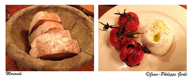 Image of Bread and burrata at Morandi in NYC, New York