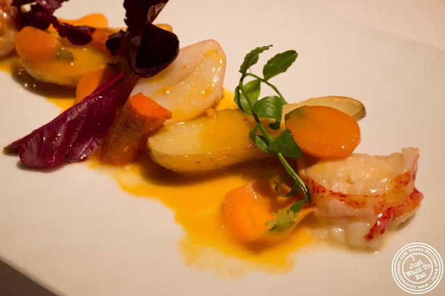 image of warm lobster salad at Gramercy Tavern in NYC, New York
