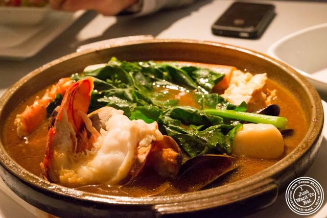 image of seafood toban yaki at Morimoto in NYC, New York