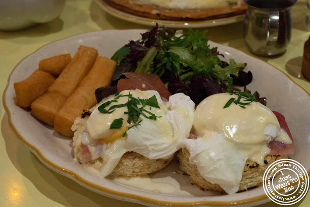 Image of Eggs benedict at Nizza, Italian Trattoria in Hell's Kitchen, NYC, New York