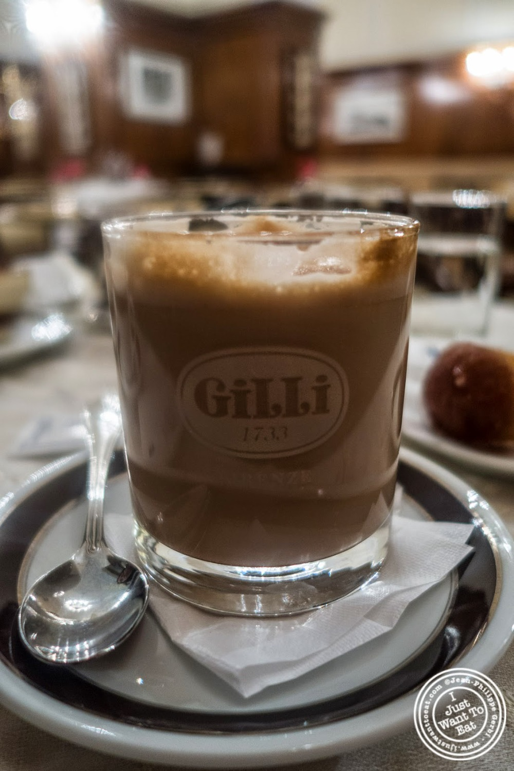 image of latte macchiato at Caffè Gilli in Florence, Italy