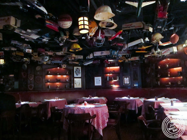 image of dining room and toys at 21 Club in NYC, New York