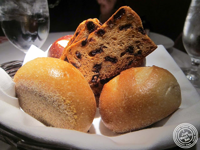 image of bread basket at 21 Club in NYC, New York