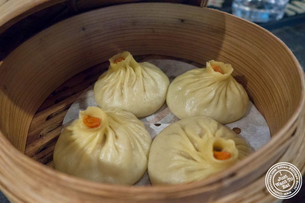 image of crab and pork soup dumplings at Red Farm in NYC, NY