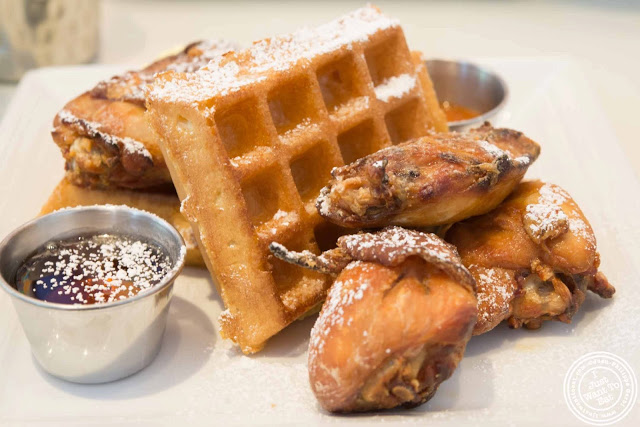 Image of Chicken and waffles at Sugar and Plumm in NYC, New York