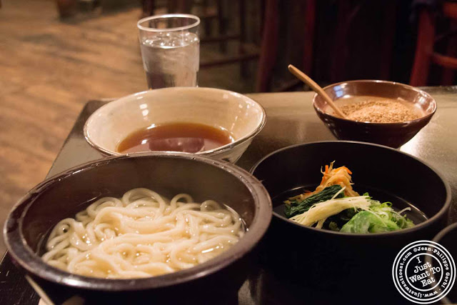Image of Noodle soup at Omen Japanese restaurant in Soho NYC, New York