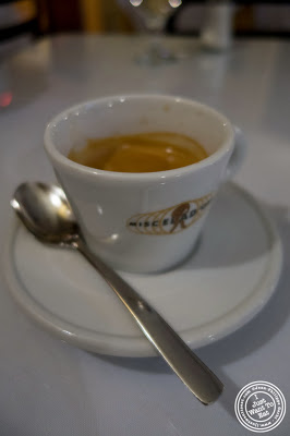 image of espresso at Il Colosseo in Bensonhurst, Brooklyn, New York