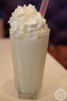 Image of vanilla milkshake at Sugar and Plumm in NYC, New York